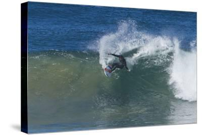 Surfing V-Lee Peterson-Stretched Canvas Print