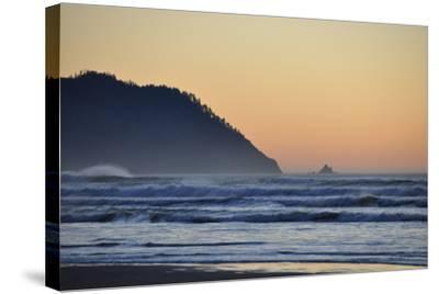 Ocean Sunset II-Logan Thomas-Stretched Canvas Print