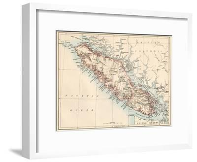 Map Of Vancouver Island British Columbia Canada 1870s Giclee