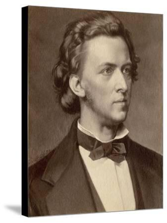 Composer and Pianist Frederic Chopin--Stretched Canvas Print