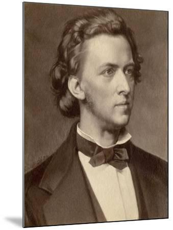 Composer and Pianist Frederic Chopin--Mounted Giclee Print