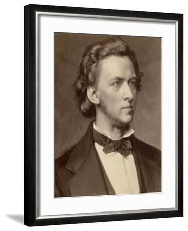Composer and Pianist Frederic Chopin--Framed Giclee Print