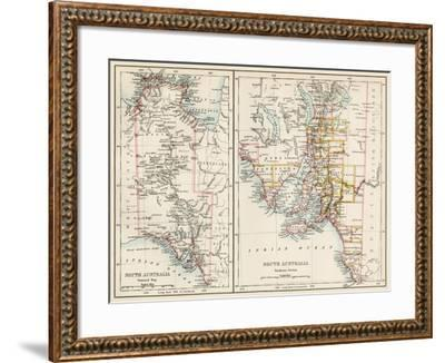 Map of South Austrailia, 1870s--Framed Giclee Print