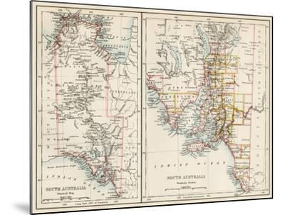 Map of South Austrailia, 1870s--Mounted Giclee Print