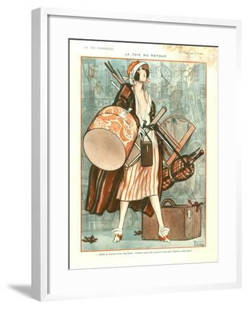 1920s France La Vie Parisienne Magazine Plate--Framed Giclee Print
