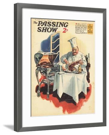 1930s UK The Passing Show Magazine Cover--Framed Giclee Print