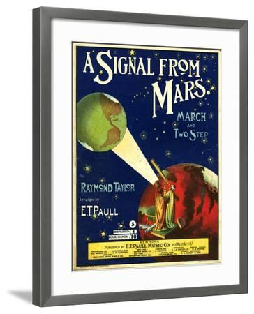 1900s USA A Signal From Mars Sheet Music Cover--Framed Giclee Print