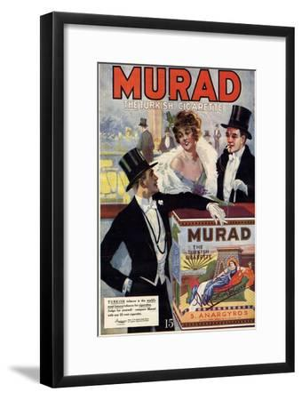 1910s USA Murad Magazine Advertisement--Framed Giclee Print