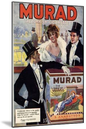 1910s USA Murad Magazine Advertisement--Mounted Giclee Print