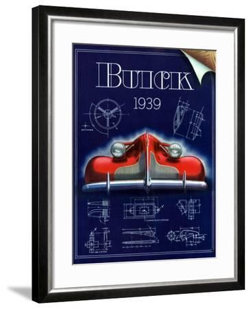 1930s USA Buick Magazine Advertisement--Framed Giclee Print
