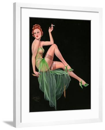 1940s UK Pin-Ups Poster--Framed Giclee Print