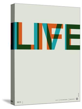 Live Life Poster 2-NaxArt-Stretched Canvas Print