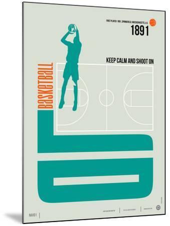 Basketball Poster-NaxArt-Mounted Art Print