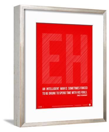Ernest Hemingway Quote Poster-NaxArt-Framed Art Print
