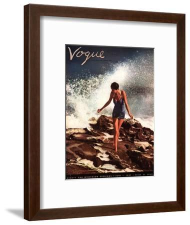 Vogue Cover - June 1937-Toni Frissell-Framed Premium Giclee Print