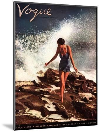 Vogue Cover - June 1937-Toni Frissell-Mounted Premium Giclee Print