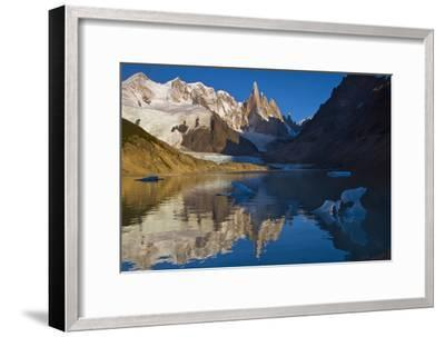 Adela and Cerro Torre Massifs Reflected in the Laguna Torre At Dawn-Beth Wald-Framed Photographic Print