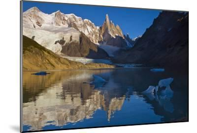 Adela and Cerro Torre Massifs Reflected in the Laguna Torre At Dawn-Beth Wald-Mounted Photographic Print