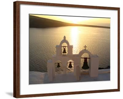 Sunset On the Aegean Sea, Behind a Set of Church Bells-Charles Kogod-Framed Photographic Print