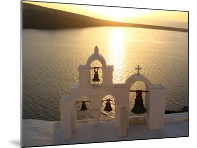 Sunset On the Aegean Sea, Behind a Set of Church Bells-Charles Kogod-Mounted Photographic Print