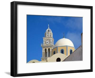 A Multi-colored Church On the Road Between Fira and Firostefani-Charles Kogod-Framed Photographic Print