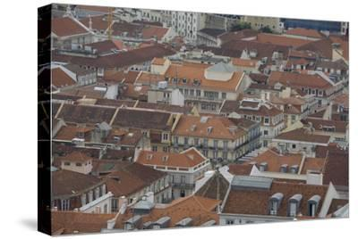 Terracotta Tile Roofs in Downtown Lisbon-Joe Petersburger-Stretched Canvas Print