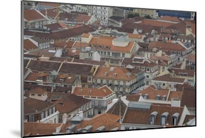 Terracotta Tile Roofs in Downtown Lisbon-Joe Petersburger-Mounted Photographic Print