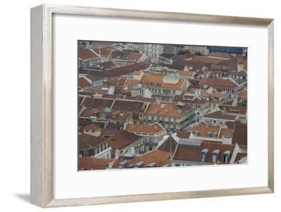 Terracotta Tile Roofs in Downtown Lisbon-Joe Petersburger-Framed Photographic Print