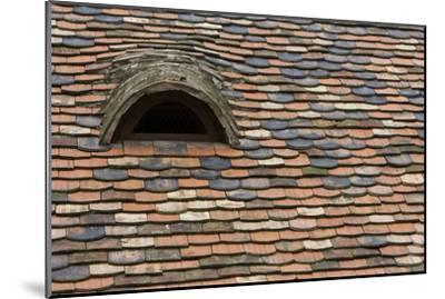 Detail of a Tile Roof with a Window in the Old Downtown-Joe Petersburger-Mounted Photographic Print