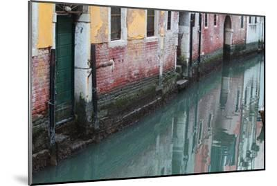 Buildings and Their Reflections in Canal Water-Joe Petersburger-Mounted Photographic Print