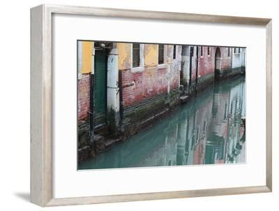 Buildings and Their Reflections in Canal Water-Joe Petersburger-Framed Photographic Print