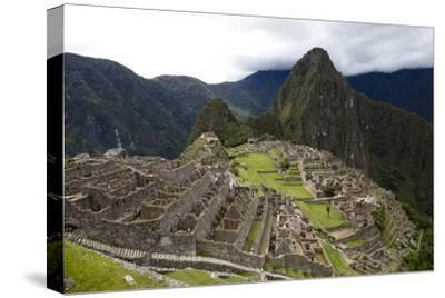The Ruins At Machu Picchu-Kent Kobersteen-Stretched Canvas Print