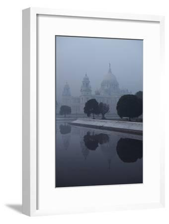 Victoria Memorial Is Enveloped in Ground Fog On a Cold Winter Morning in Calcutt-Steve Raymer-Framed Photographic Print