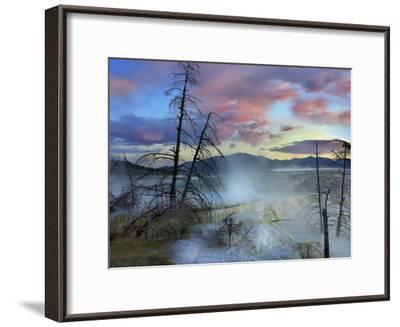 Steam Rising From Travertine Formations, Minerva Terrace, Mammoth Hot Springs, Yellowstone-Tim Fitzharris-Framed Photographic Print