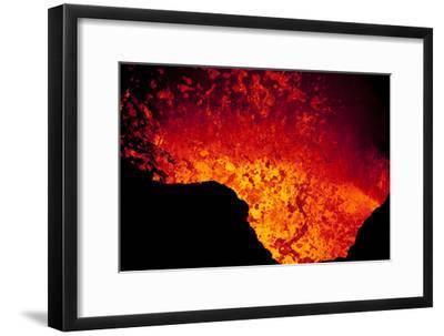 Lava Lake At Marum Crater-Ulla Lohmann-Framed Photographic Print