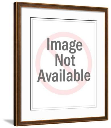Woman's Profile-Pop Ink - CSA Images-Framed Art Print