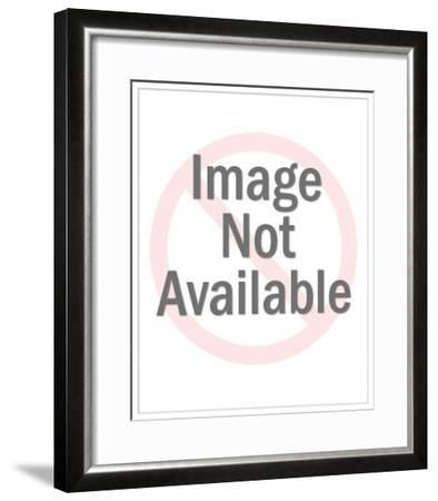 Two People in Speedboat with Boat Word Art-Pop Ink - CSA Images-Framed Art Print