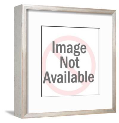 Man Holding Blank Sign-Pop Ink - CSA Images-Framed Art Print
