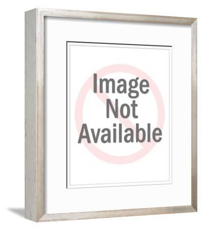 Two Men Watching One Woman-Pop Ink - CSA Images-Framed Art Print