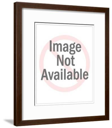 Pretty Young Woman with Notepad-Pop Ink - CSA Images-Framed Art Print