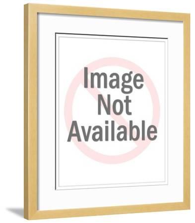 Man Looking into Binoculars-Pop Ink - CSA Images-Framed Art Print