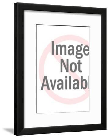 Man Eating Giant Sandwich-Pop Ink - CSA Images-Framed Art Print