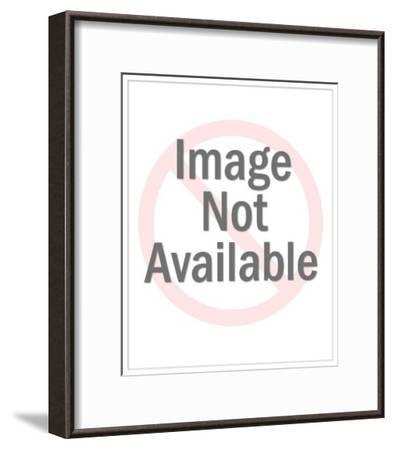 Man Smoking Cigarette-Pop Ink - CSA Images-Framed Art Print