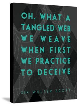What a Tangled Web We Weave-James Hager-Stretched Canvas Print
