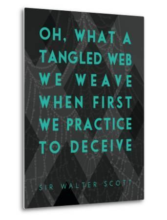What a Tangled Web We Weave-James Hager-Metal Print