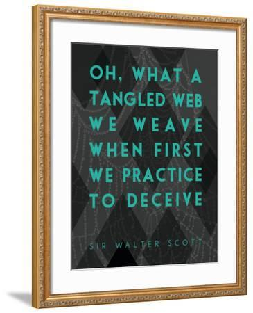 What a Tangled Web We Weave-James Hager-Framed Art Print