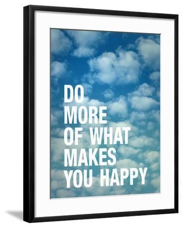 Do More of What Makes you Happy-Adam Jones-Framed Art Print