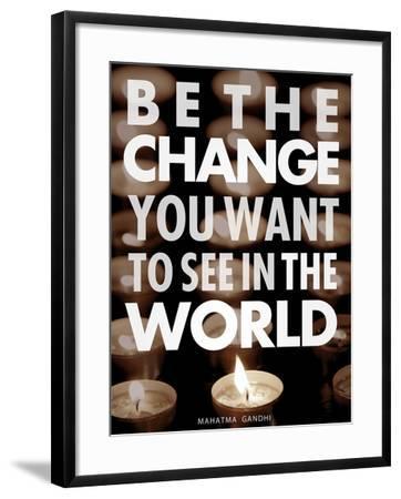 Be the Change-Chuck Haney-Framed Art Print