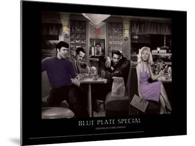 Blue Plate Special (Silver Series)-Chris Consani-Mounted Art Print