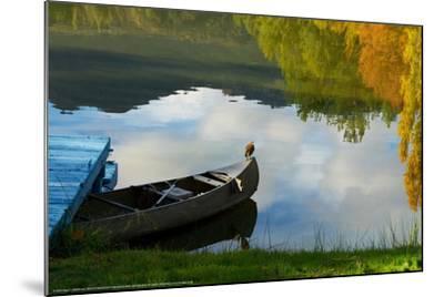 Lake Reflection-Sally Linden-Mounted Art Print